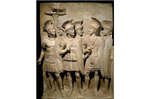 The Praetorian Guard, legionnaires and elite soldiers. Marble relief in the Louvre Museum, Paris. (Photo by Leemage/Corbis via Getty Images)