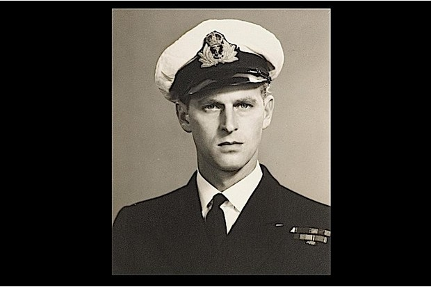A 23-year-old Prince Philip wearing his navy uniform.