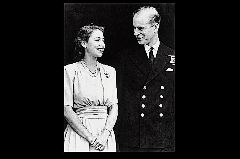 Press photographers were invited to Buckingham Palace on the day that the royal engagement between Lieutenant Philip Mountbatten and Princess Elizabeth, elder daughter of King George VI and Queen Elizabeth, was announced, in July 1947. Image: The Royal Collection. (© Her Majesty Queen Elizabeth II, 2011)