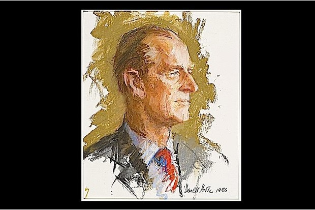 Prince Philip looks right in this portrait by David Poole.