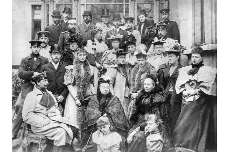 Queen Victoria with her children and grandchildren