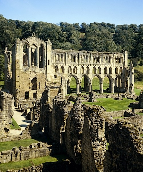 The ruins of Rievaulx Abbey, North Yorkshire. (Photo by English Heritage/Heritage Images/Getty Images)