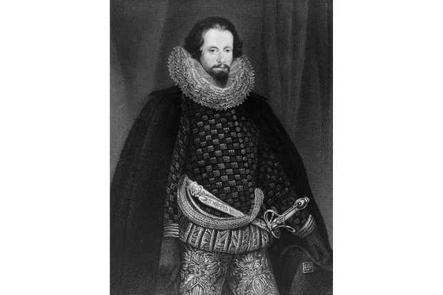 Robert Devereux, 2nd Earl of Essex (1566 - 1601), circa 1595. Once a favourite of Queen Elizabeth I, he was tried for treason and executed at the Tower of London. An engraving by W. Holl from an original by Hilliard. (Photo by Hulton Archive/Getty Images)