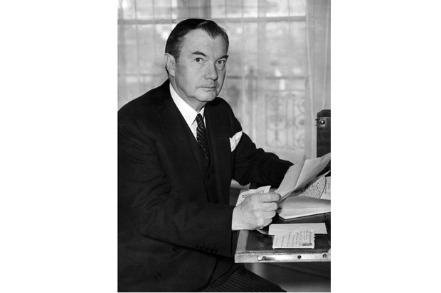Portrait taken on May 29, 1945 shows Justice Robert H. Jackson, chief United States prosecutor at the Nuremberg Trials, dealing with correspondence at his London Hotel. In 1945, President Truman appointed Jackson, who took a leave of absence from the Supreme Court, to serve as U.S. chief of counsel for the prosecution of Nazi war criminals. He helped draft the London Charter of the International Military Tribunal, which created the legal basis for the Nuremberg Trials.     AFP PHOTO