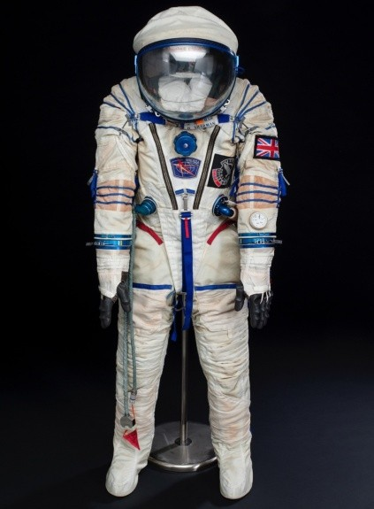SOKOL space suit worn by Helen Sharman in 1991