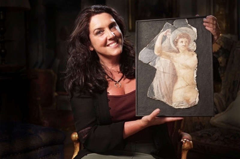 In 'Venus Uncovered' on BBC Four, Wednesday 15 November at 9pm, Bettany Hughes investigates the mythological figure of Venus. (© Sandstone Global/Image by Tim Knight)