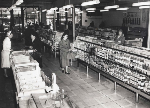 Britain's first self-service supermarket, Sainsbury's in Croydon, opened in 1950. (Sainsbury's)