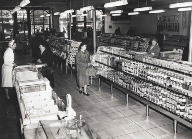 Britain's first self-service supermarket, Sainsbury's in Croydon, opened in 1950. (Sainsbury's)