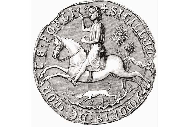 Seal of Simon de Montfort, from 'The Short History of the English People' by JR Green, published in London in 1893. (Photo by Universal History Archive/UIG via Getty Images)