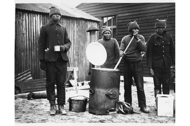 SANLC members in a camp in France