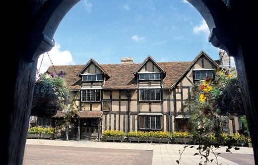Shakespeares Birthplace at Stratford on Avon Warwickshire in England