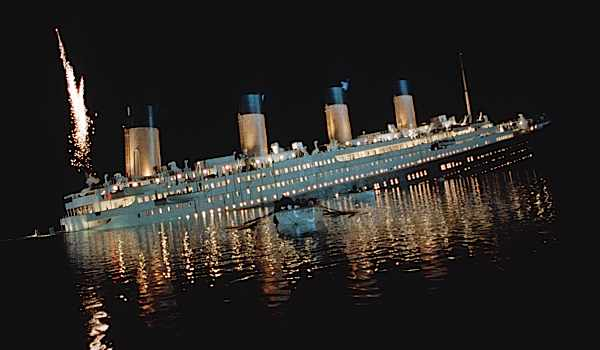 A still from James Cameron's 'Titanic'. (Image by Alamy)