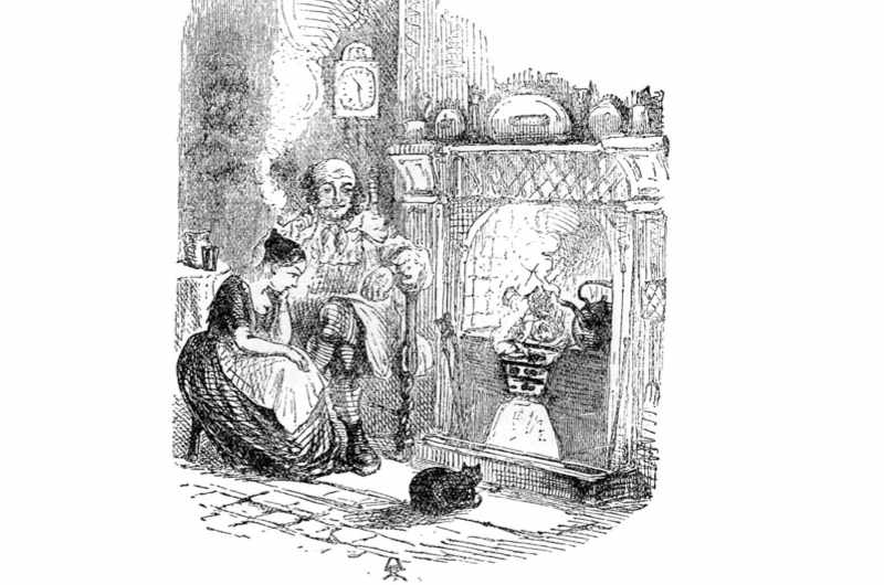'The Cricket on the Hearth' published in 1845 by Charles Dickens. (Image by Getty)