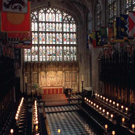 The Quire in St George's Chapel at Windsor Castle. (Photo by Tim Graham/Getty Images)