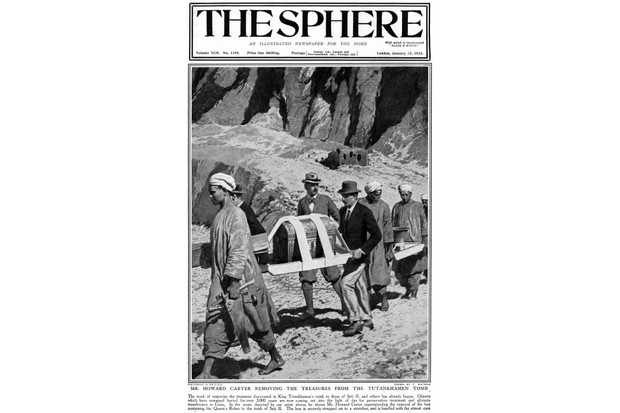 Reporting the discovery, 13 January 1923. (Illustrated London News)