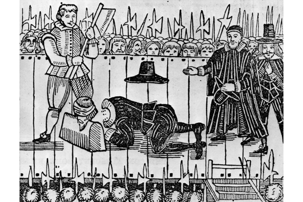 The execution of Charles I in front of Whitehall, London, 30 January 1649. (Photo by Hulton Archive/Getty Images)