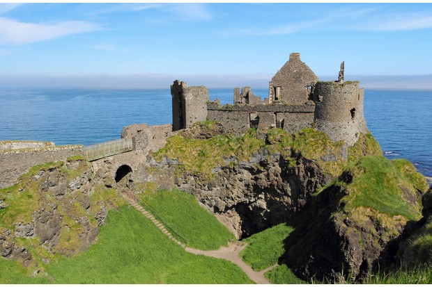 The ruins of Dunluce Castle. (Photo by Captblack76/Dreamstime.com)