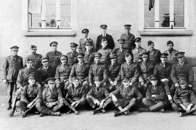 Group photo of Offiers at Holzminden POW camp. (Image provided by Channel 5)
