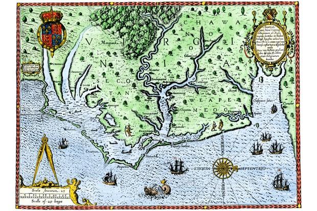 Map of Virginia, c1588