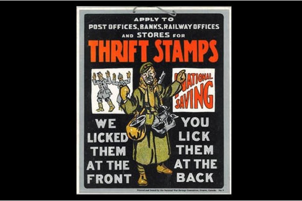 A poster from the First World War.