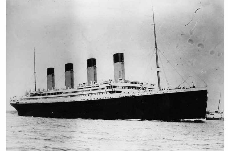The ill-fated 'Titanic', which sank on her maiden voyage across the Atlantic. (Photo by Central Press/Getty Images)