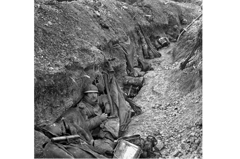 Battle of Verdun. French trench on the front lines, 1916. (Photo by Roger Viollet/Getty Images)