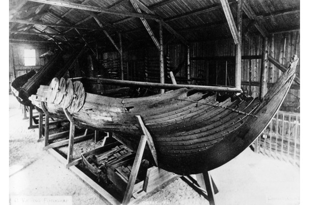 The remains of a Viking longship