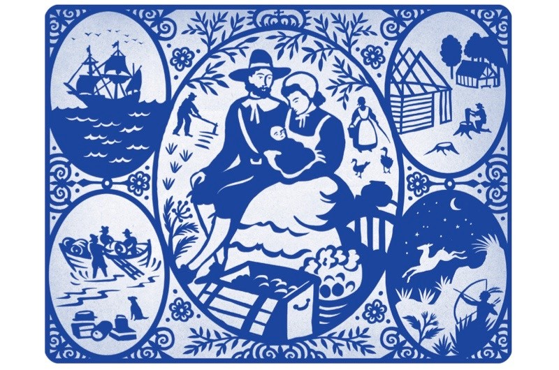 The first baby is born to English settlers in the Americas. (Illustration by Lynn Hatzius)