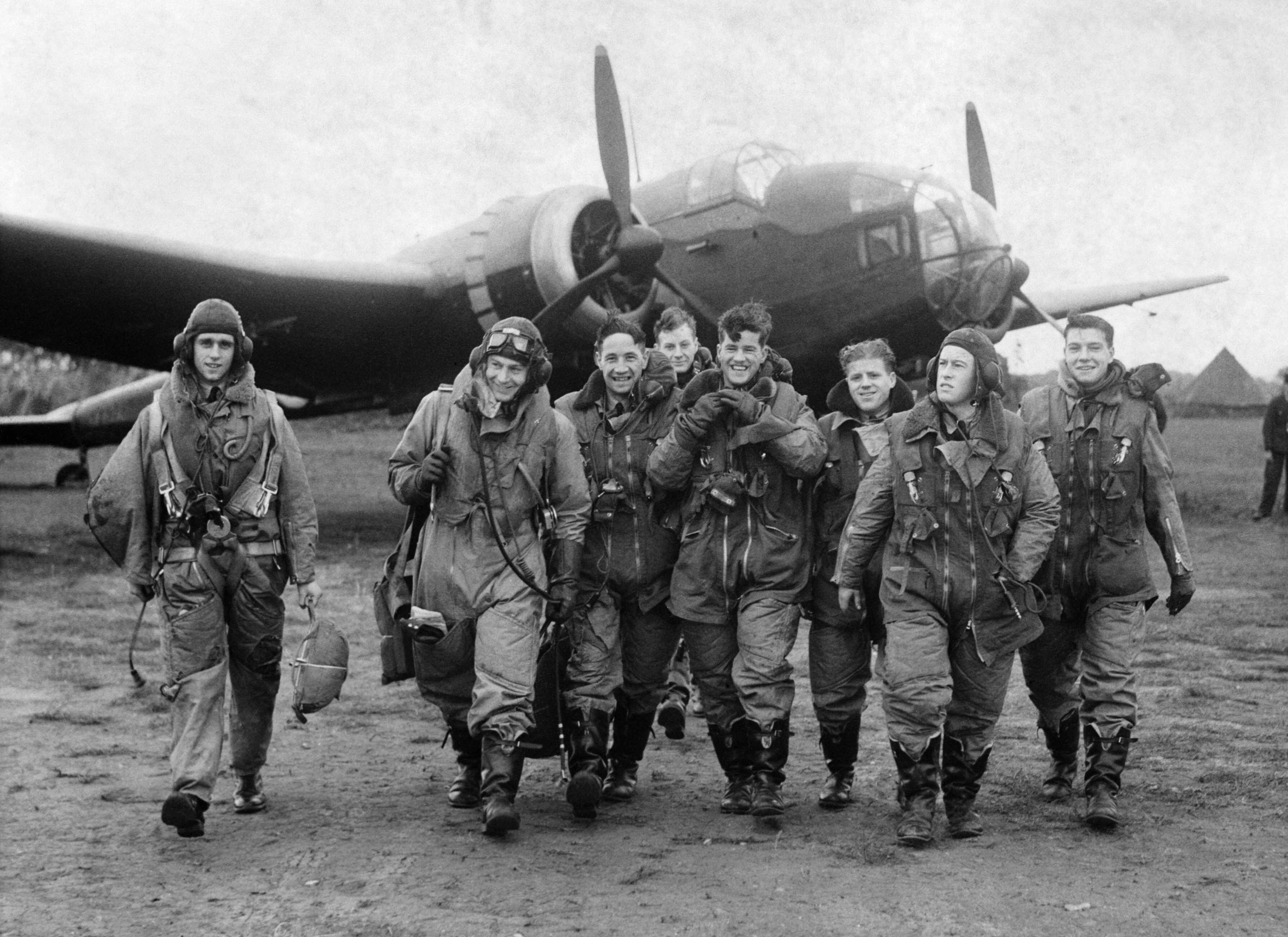 Photo of RAF bomber pilots