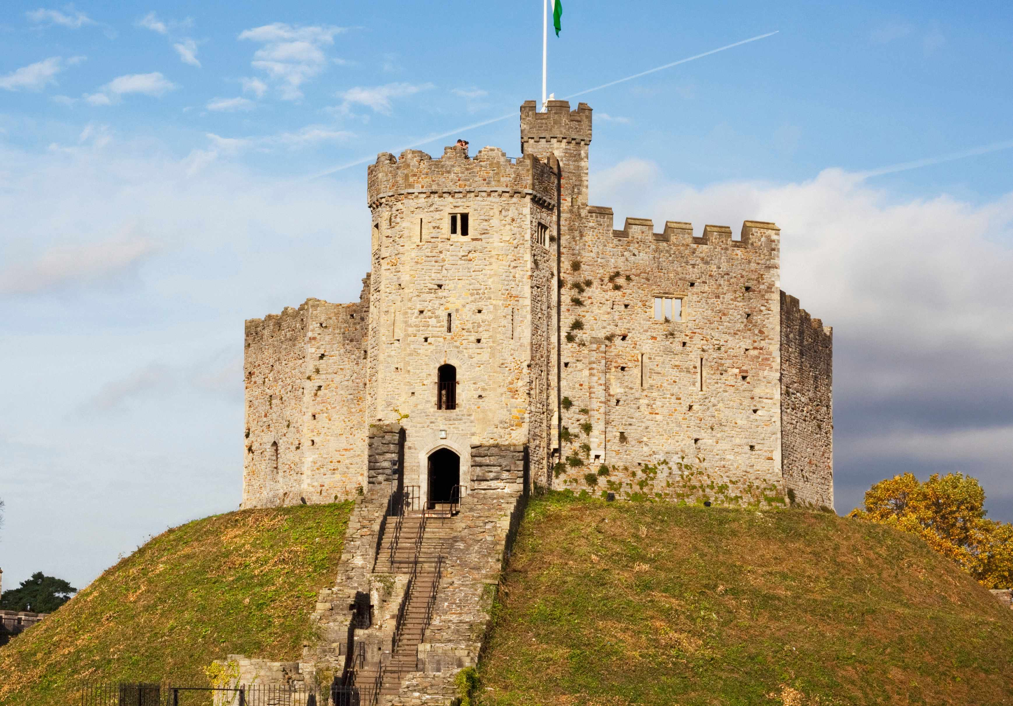 The Norman Shell Keep of Cardiff Castle