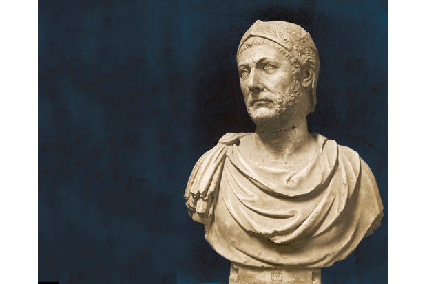 Antique bust of Hannibal, whose war elephants conquered the Alps but failed to conquer Rome. (Mary Evans)