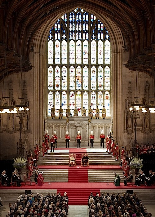 A royal event at Westminster Hall in 2012. (Photo by Ben Stansall/WPA Pool/Getty)