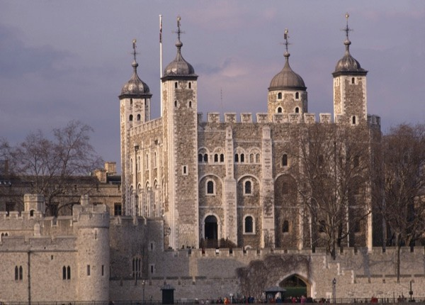 The White Tower at the Tower of London. (Photo by Arcaid/UIG via Getty)