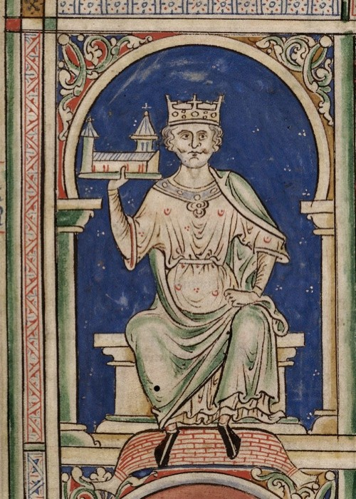 A portrait of William the Conqueror from the 'Historia Anglorum, Chronica majora'. (Fine Art Images/Heritage Images/Getty Images)