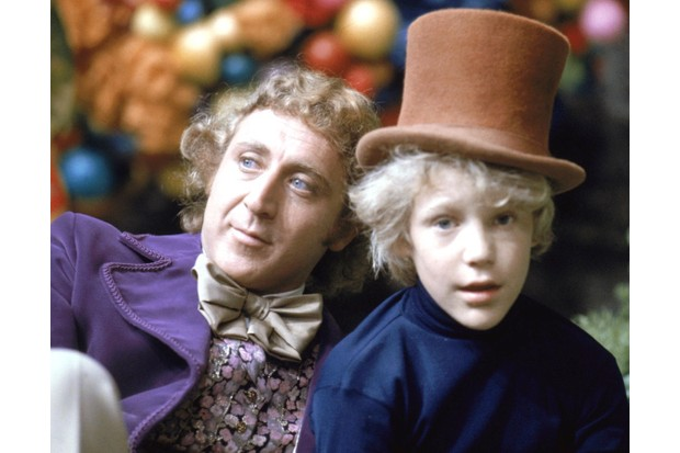 Gene Wilder as Willy Wonka and Peter Ostrum as Charlie Bucket on the set of 'Willy Wonka and the Chocolate Factory', 1971. (Photo by Silver Screen Collection/Getty Images)