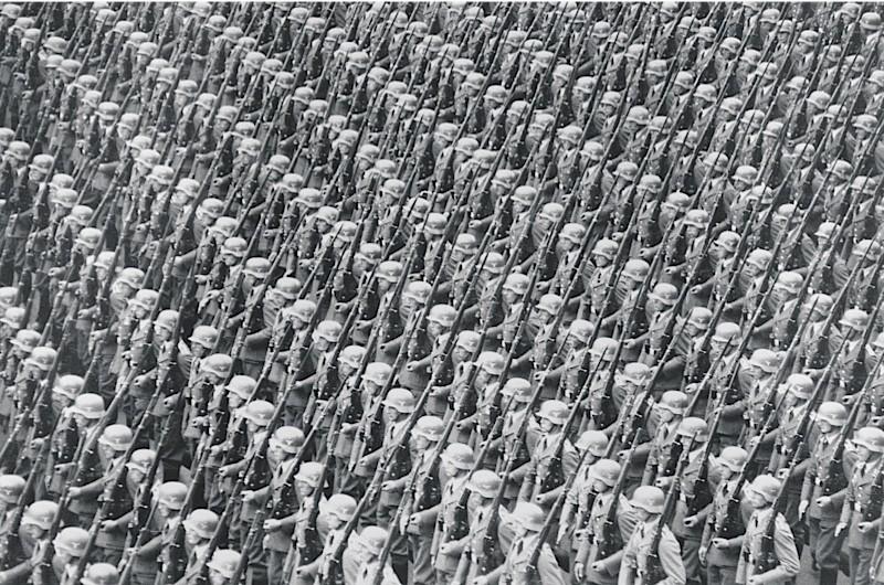 Wehrmacht soldiers on parade, 1937. (Bridgeman)