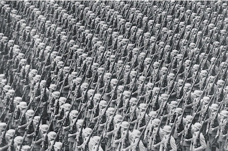 Wehrmacht soldiers on parade, 1937. (Bridgeman)