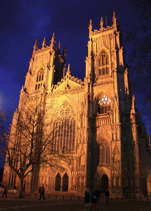 York Minster at night. (Photo by Rod Lawton/Digital Camera Magazine via Getty Images)