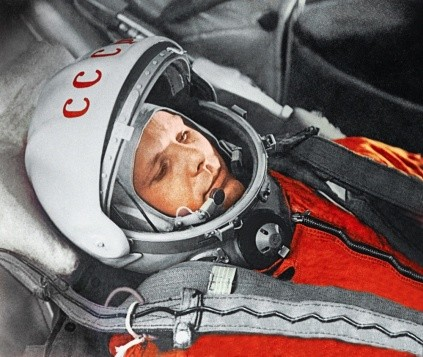Yuri Gagarin before the first space flight, 12 April 1961