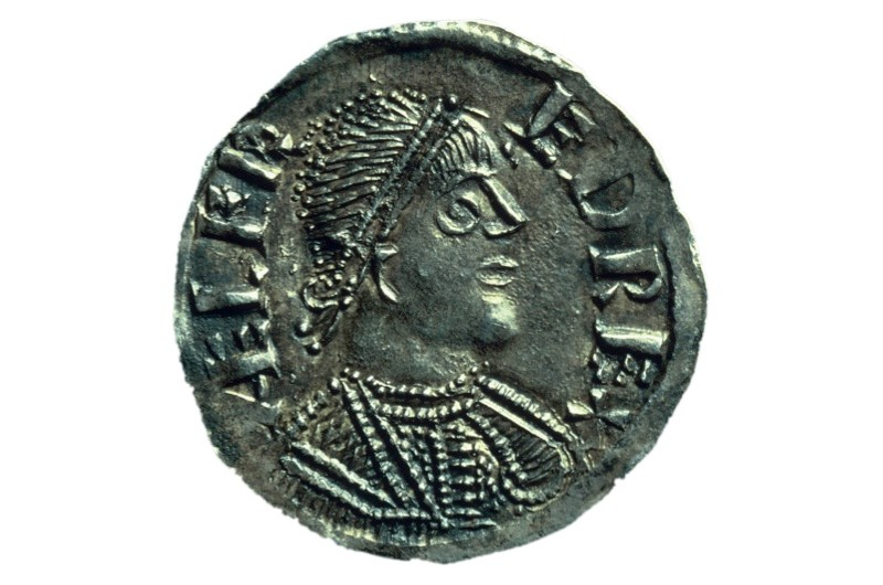 ilver penny of King Alfred