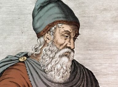 An illustration of ancient Greek thinker Archimedes