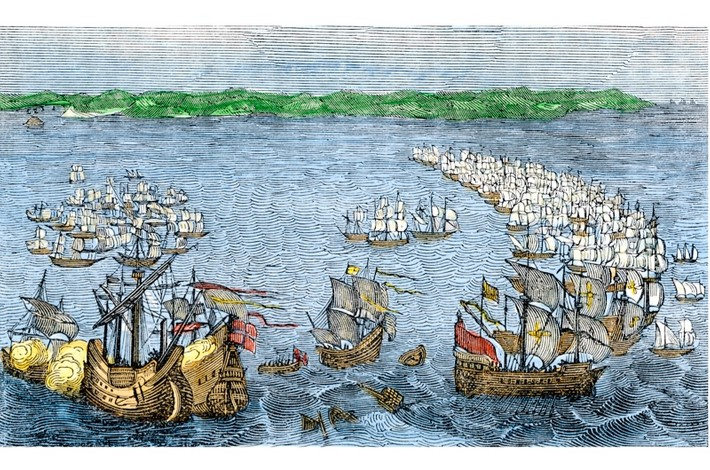 an analysis of the defeat of the spanish armada While the defeat of the spanish armada did not affect the roanoke colonists, the preparations in england for the expected attack certainly did part of the preparations included a stay of shipping, meaning that no ships were allowed to leave england thus, relief ships carrying much needed.