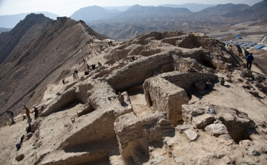 Archeologists have uncovered a hoard of gold jewellery and coins at an ancient Buddhist  settlement at 35km south Kabul. The sites includes an ancient copper mine, a series of monasteries, and what may be homes or workshops at Mes Ainak in Logar province. A Chinese state mining company won a $3bn contract to mine the rest of the copper deposit, one of the largest in the world, which sits directly beneath the ancient settlement.