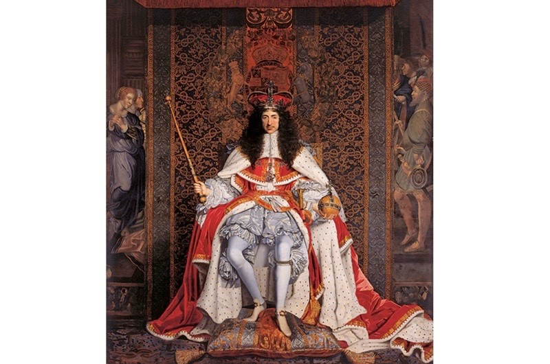 A portrait of Charles II, by 17th-century painter John Michael Wright