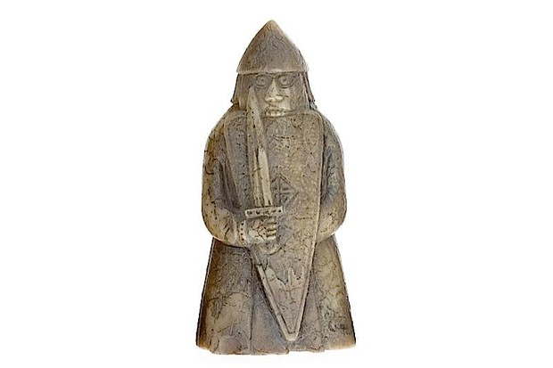 A piece from the Lewis Chessmen, some of the earliest chessmen to survive.