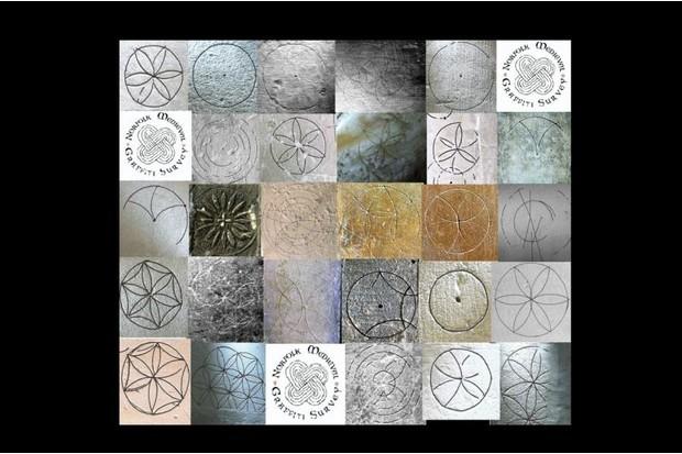 Graffiti circles found in churches