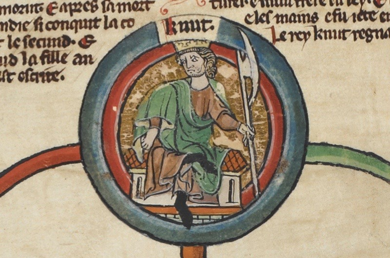 The royal genealogy from Edmund II to Harthacnut.,