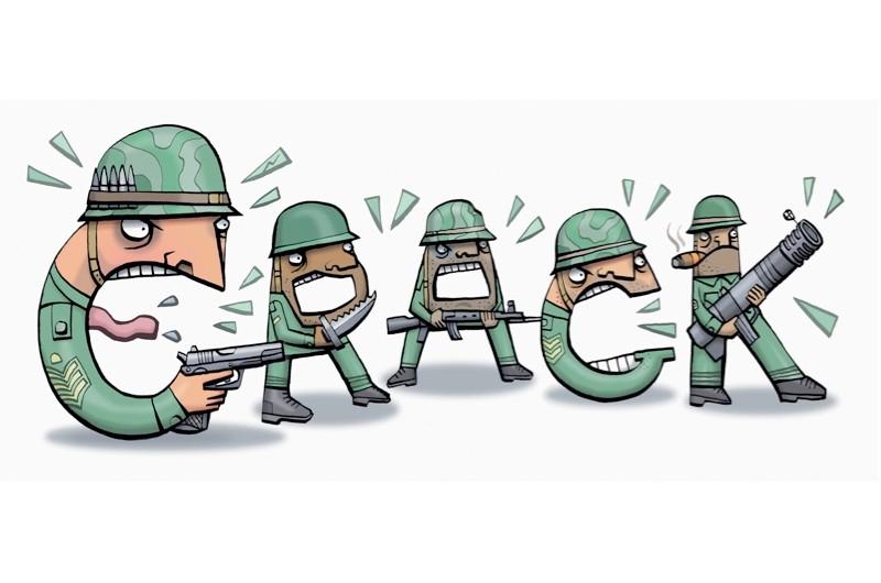 Crack illustration.