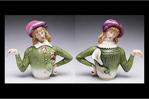 Novelty teapots, shown in a new exhibition at the V&A Museum in London. 'The Cult of Beauty' explores the 19th-century artistic movement of Aestheticism.