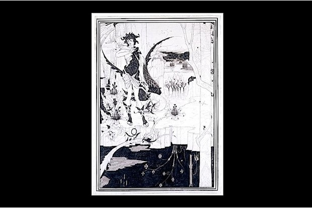 An illustration by Aubrey Beardsley, from a new exhibition at the V&A Museum in London. 'The Cult of Beauty' explores the 19th-century artistic movement of Aestheticism.